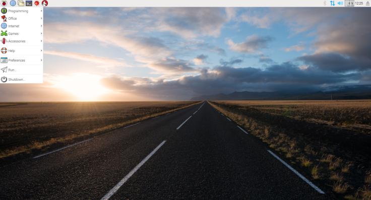 Raspbian - startup screen